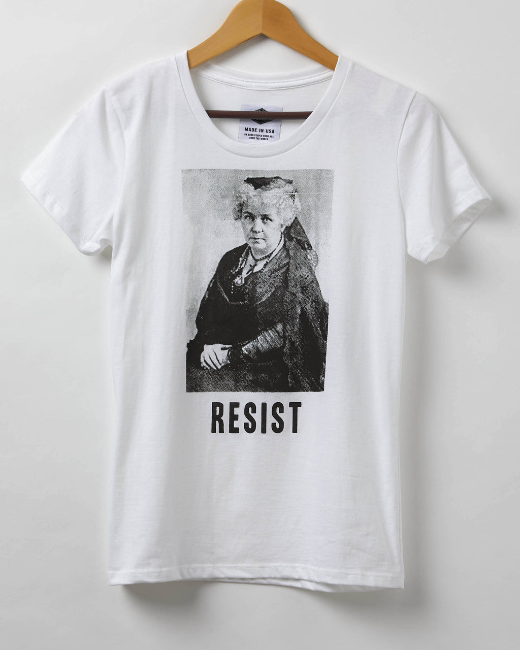 Resist Shirt - Suffragette Elizabeth Cady Stanton Resist Shirt - 100% Organic Cotton Women's T-Shirt - Made in USA
