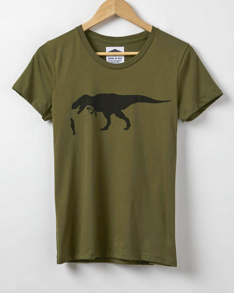 Resist Shirt - Trump About To Be Eaten By A Flag Waving T-Rex - Women's T-Shirt - Resist Trump Shirt - Made in USA
