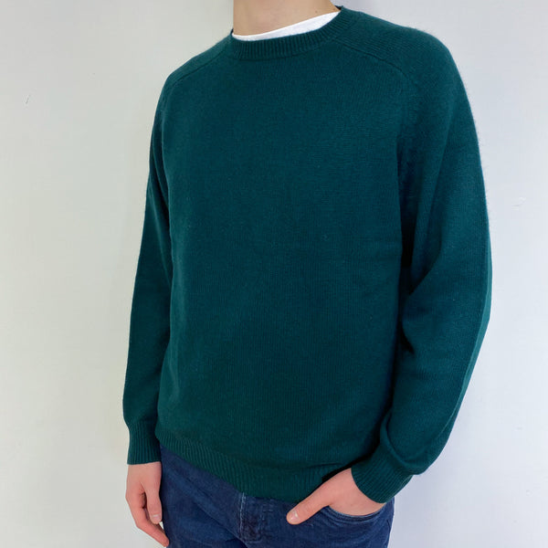 Men's 3 Ply Deep Forest Crew Neck Small