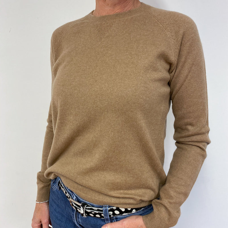 Camel Brown Casual Crew Neck Jumper Medium
