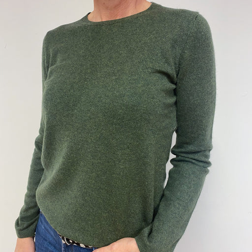 Olive Green Crewneck Jumper Medium