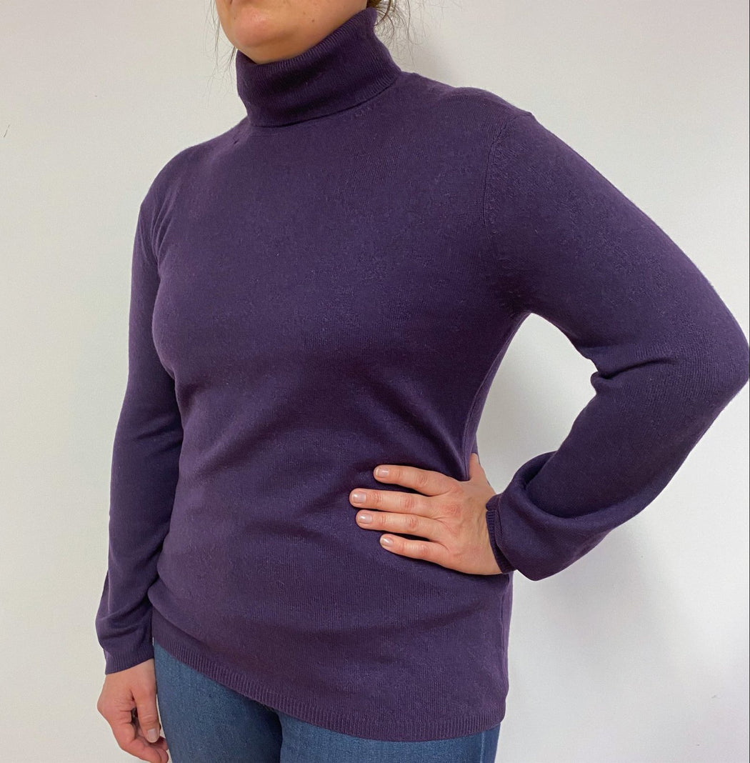 Imperial Purple Polo Neck Large