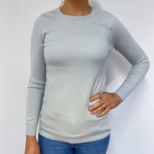 Ice Blue Crew Neck Jumper Small