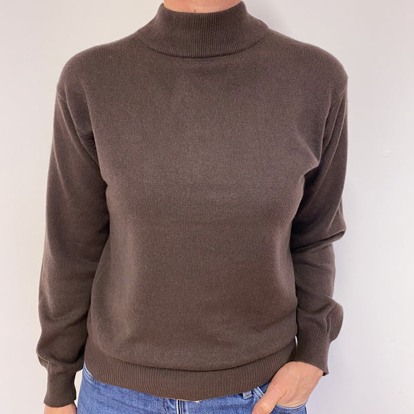 Mole Brown Turtle Neck Jumper Medium