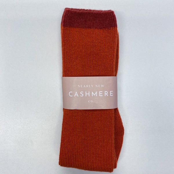 Brilliant Burnt Orange Wellie Socks