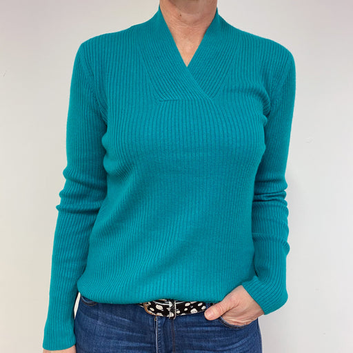 Parakeet Green V Neck Jumper Medium
