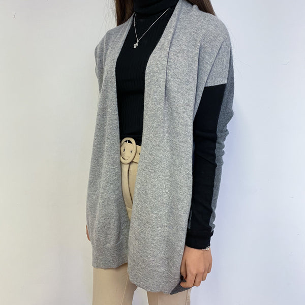 Grey and Black Colour Block Cardigan Extra Small