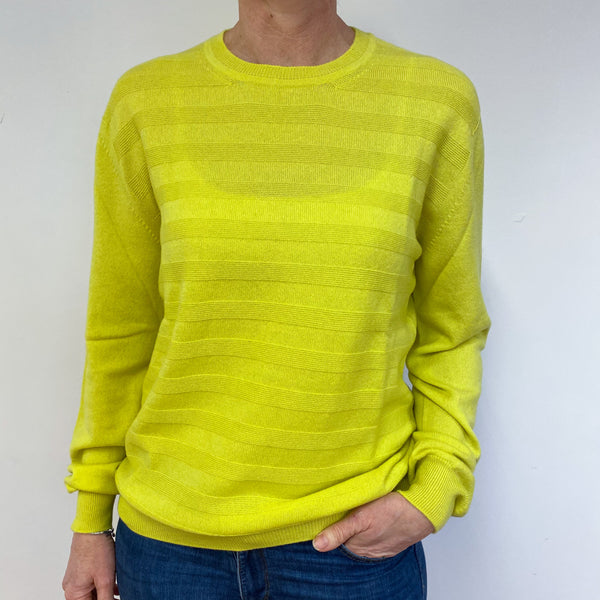 Brand New Scottish Chartreuse Yellow Crew Neck Jumper Medium