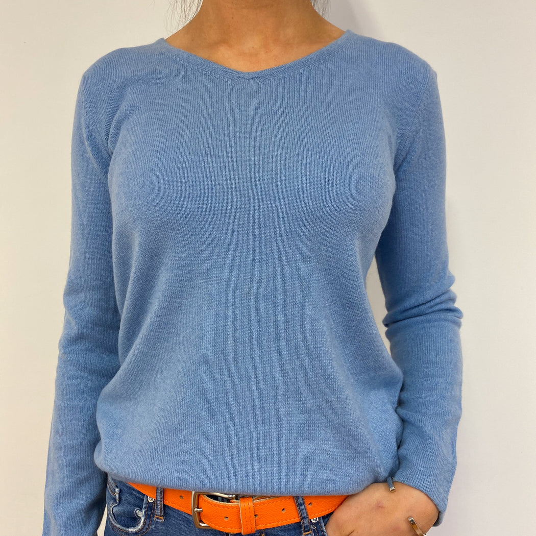 Sky Blue V-back Jumper Small
