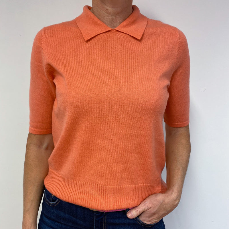 Pretty Collard Coral Cashmere Tee Medium