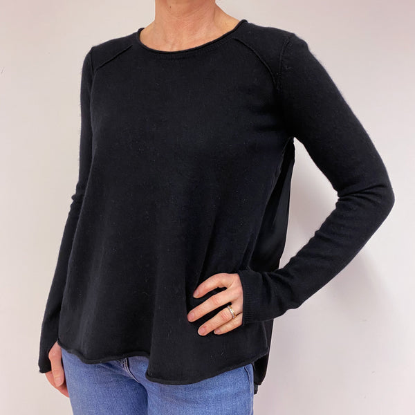 Black Crew Neck Jumper Medium