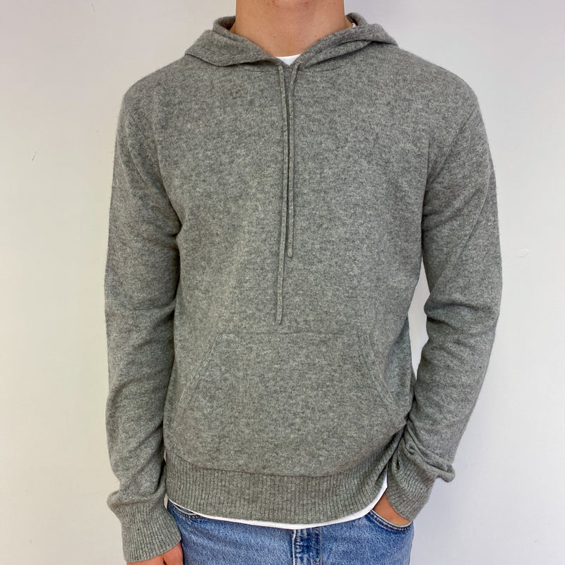 Men's Mid Grey Hoodie Large