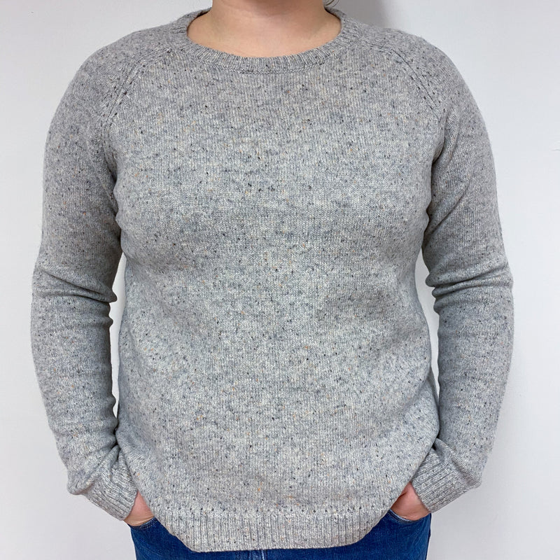 Mist Grey Marl Crew Neck Jumper Large