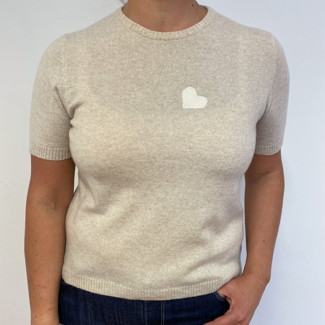Pale Biscuit Crew Neck Tee Extra Large