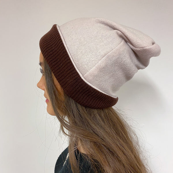 Reversible Chocolate & Faded Ice Pink Hat