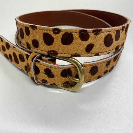 Leather and Hide Cheetah Print Belt