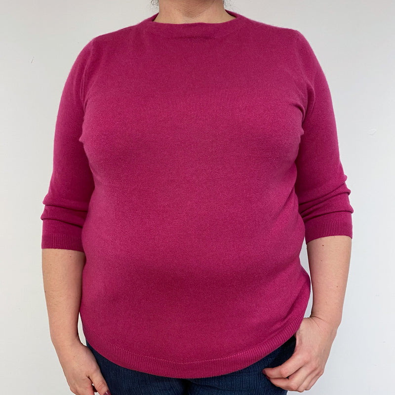 Cherry Pink Crew Neck Jumper Extra Extra Large