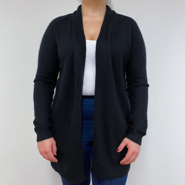 Black Edge to Edge Long Cardigan Large