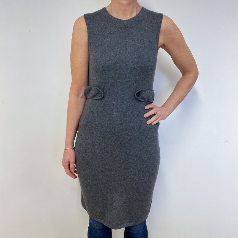 Slate Grey Sleeveless Dress Medium