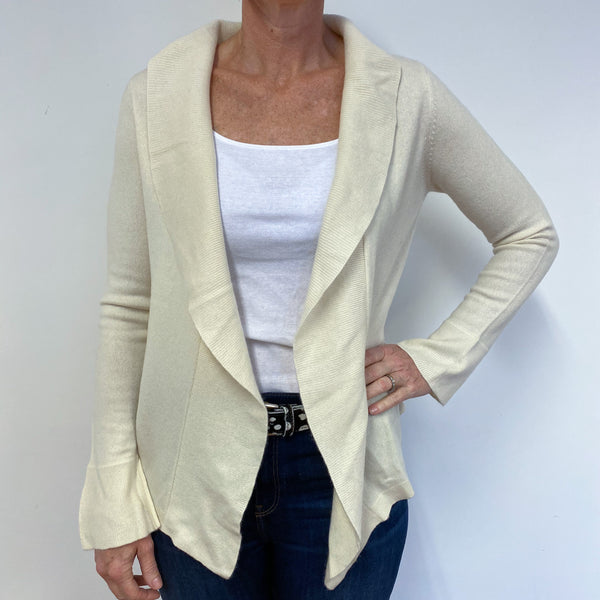 Clotted Cream Frill Edge Cardigan Medium