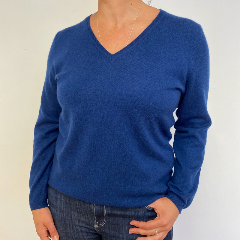 Airforce Blue V Neck Jumper Extra Large