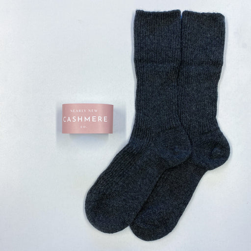 New Charcoal Grey Cashmere Socks
