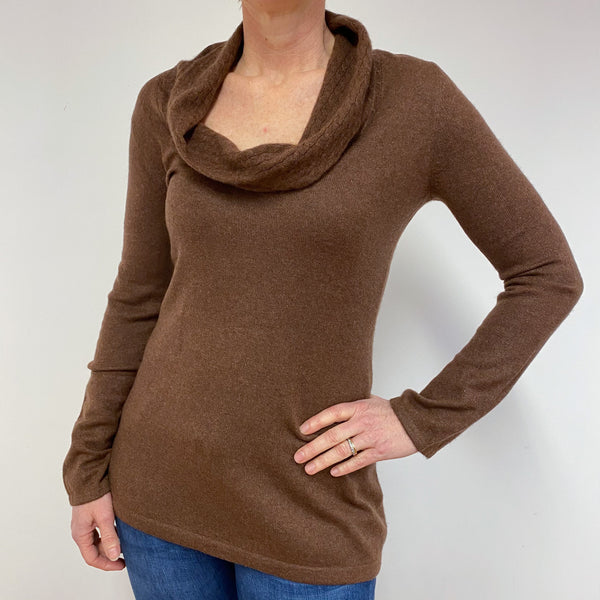 Pecan Brown Roll Neck Jumper Medium