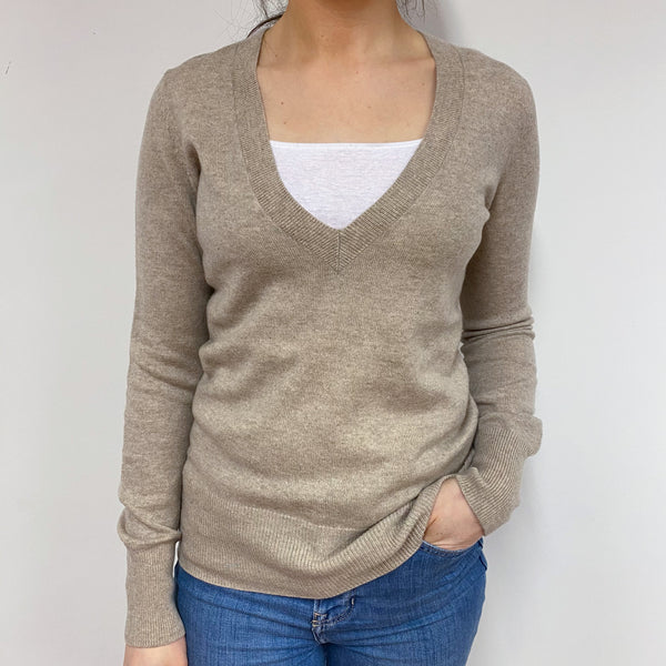 Sand Deep V Neck Jumper Small