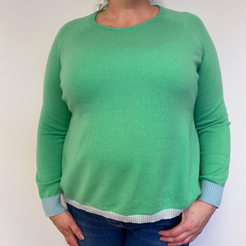Apple Green Crew Neck Jumper Extra Large