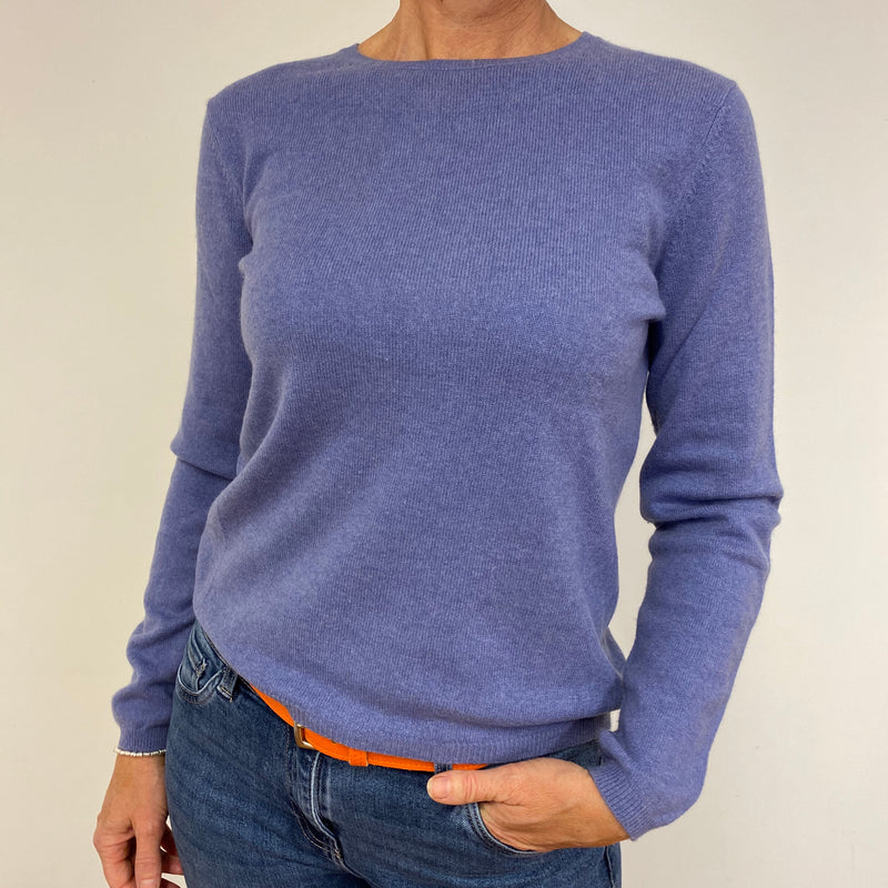 Lavender Purple Classic Crew Neck Jumper Medium