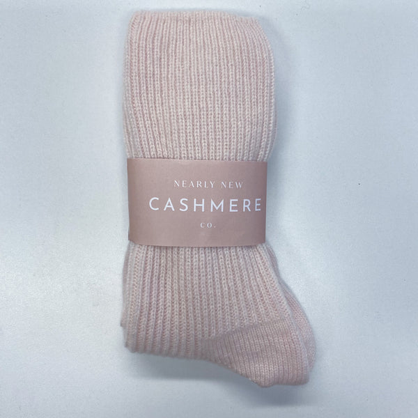 New Pale Baby Pink Ladies Cashmere Bed Socks