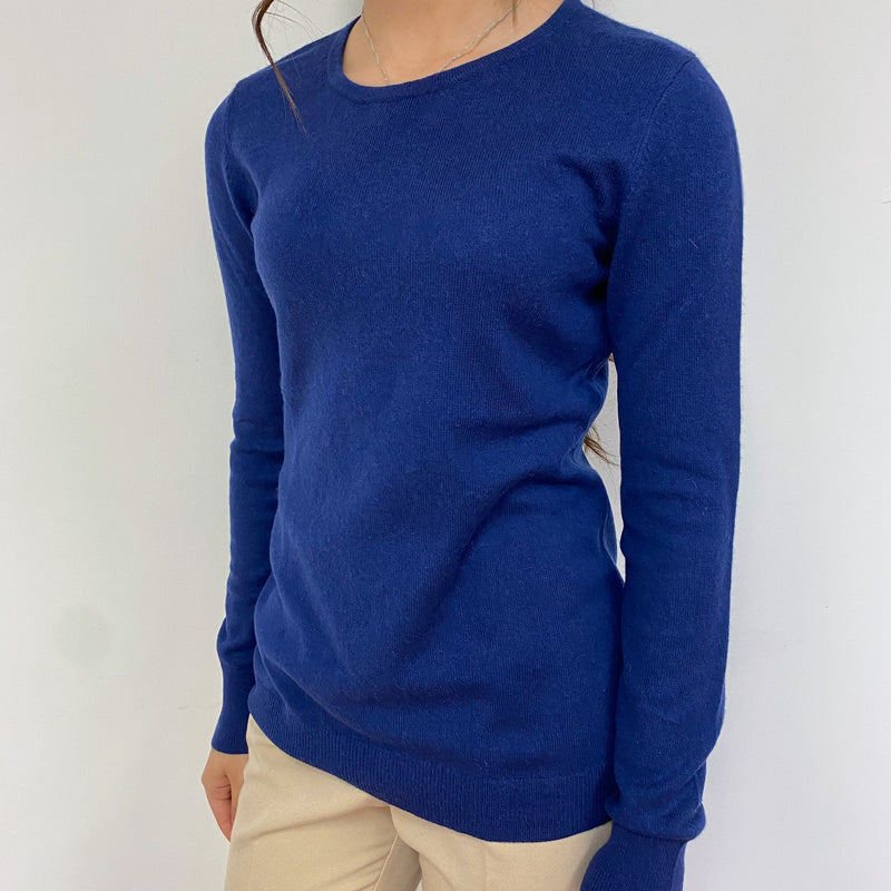 French Navy Crew Neck Jumper Extra Small