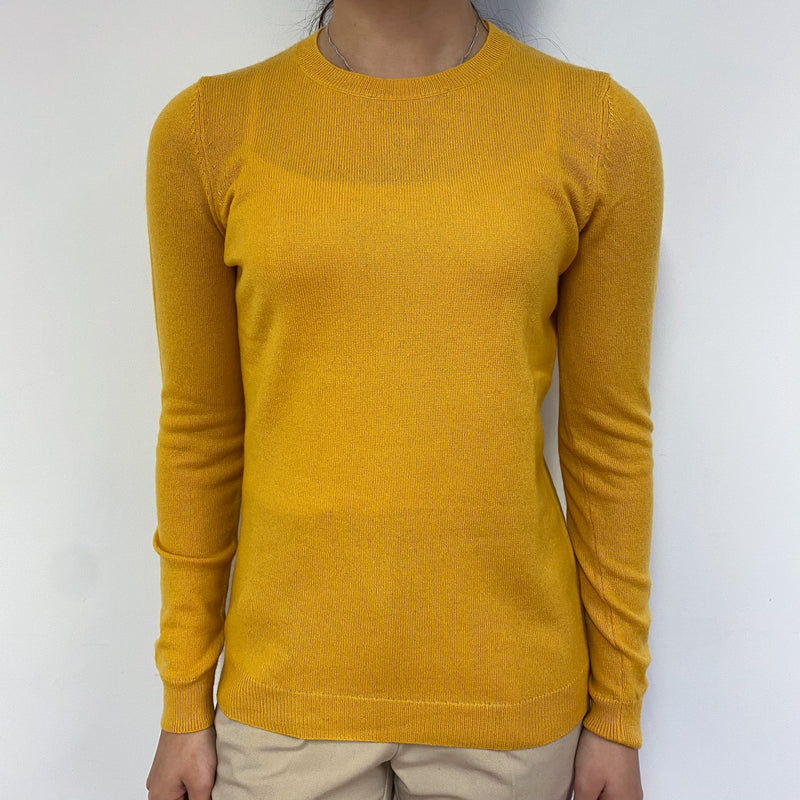 Marigold Yellow Crew Neck Jumper Extra Small