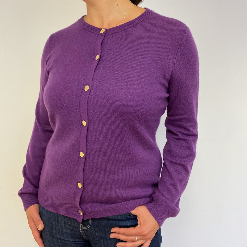 Violet Crew Neck Cardigan Large