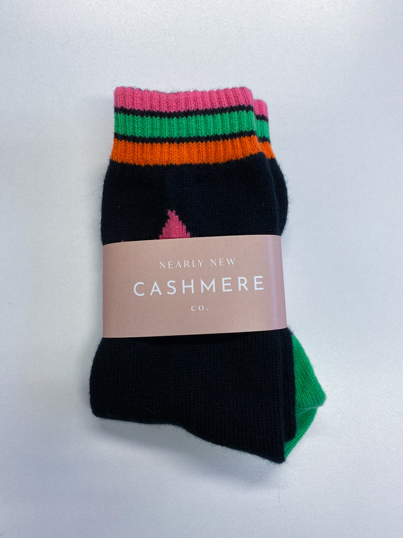 Older Children's Star and Stripes Cashmere Socks
