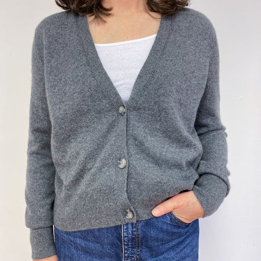 Gun Metal Grey Cardigan Large