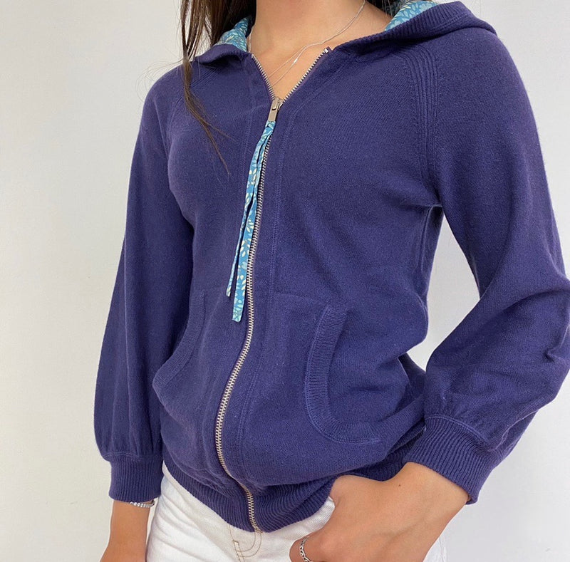 Marc Jacobs Purple Zip Through Hoodie