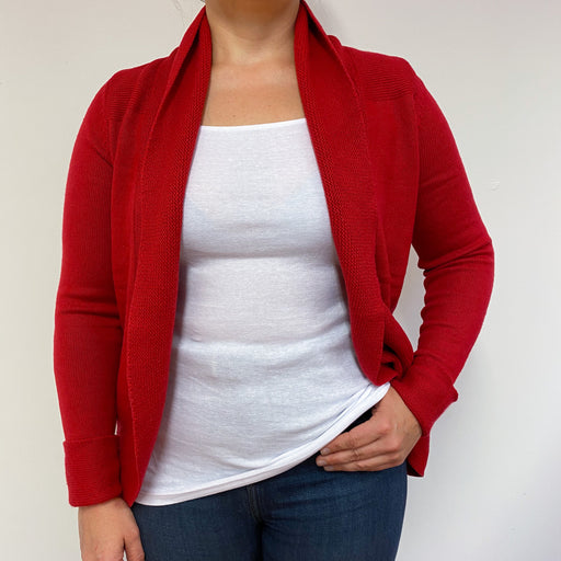 Spanish Red Shawl collard Cardigan Large