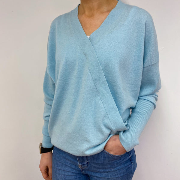 *Brand New* Baby Blue V-Neck Wrap Style Jumper Small