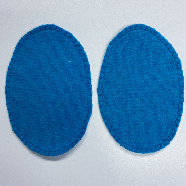Turquoise Blue Elbow Patches