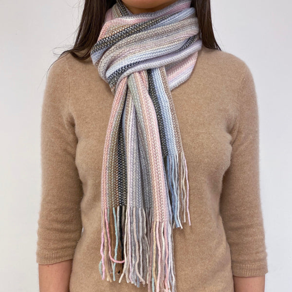 Brand New Striped Royal Speyside Scottish Cashmere Scarf