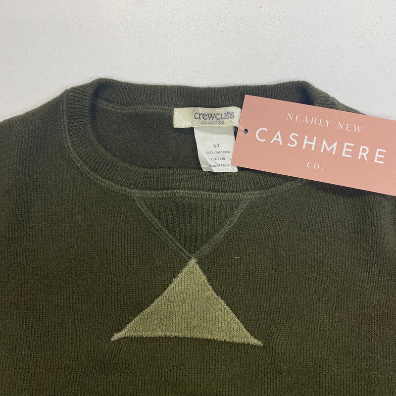 Children's Khaki Green Crew Neck Jumper Age 6-7