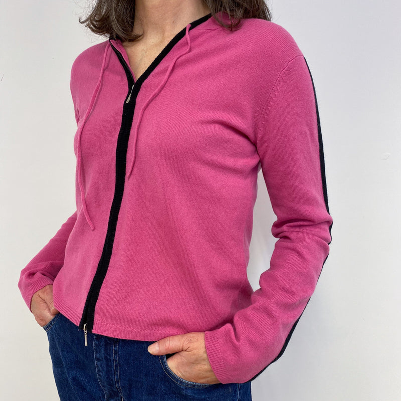 Hot Pink Zip Hoodie Medium