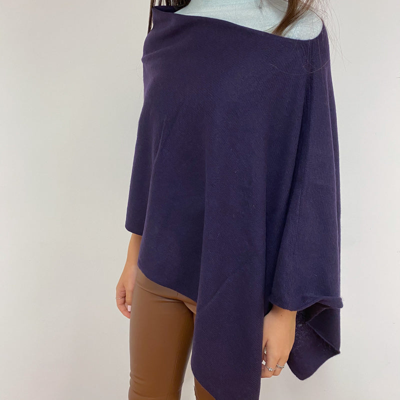 Rich Plum Poncho One Size