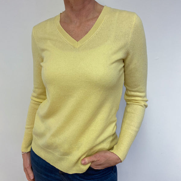 Lemon V Neck Jumper Medium