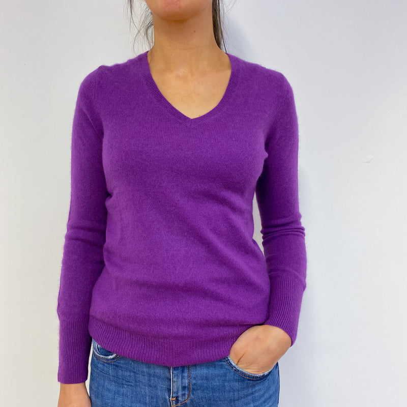 Violet V Neck Jumper Small