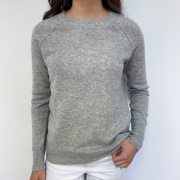 Mist Grey Crew Neck Jumper Extra Small