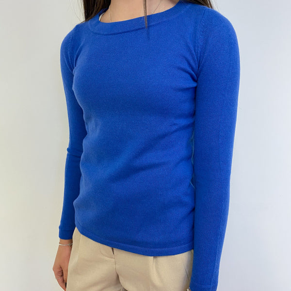Delphinium Blue Crew Neck Jumper Extra Small