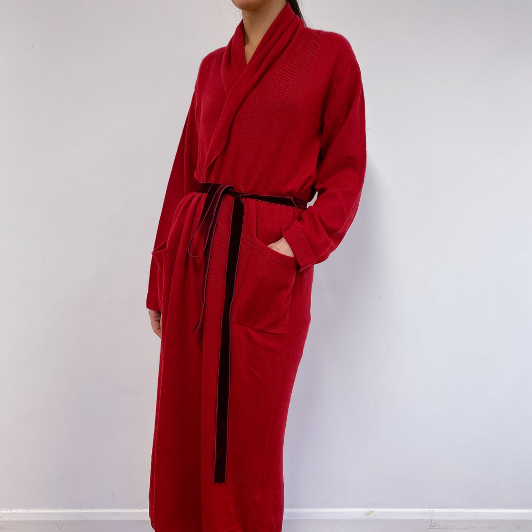 Postbox Red Heart Detailed Dressing Gown Medium