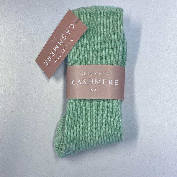New Pale Peppermint Green Ladies Cashmere Bed Socks